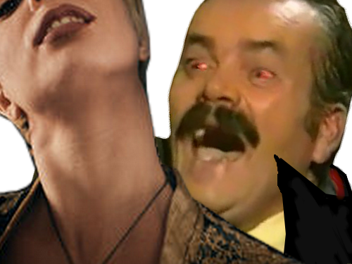 Sticker risitas vampire morsure femen halloween monstre demon horrible sheitan djin alerte explosion meuf salope madz dent yeux rouge