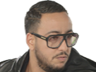 Sticker other rap lacrim retourne cote lunettes