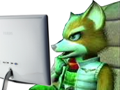 Sticker other starfox mc cloud adventures gamecube gc ordinateur pc internaute forums jvc jeuxvideocom observe stalk espionne perplexe questionnement ecran renard furry tinnova