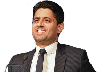 Sticker other nasser al khelaifi sourire psg paris