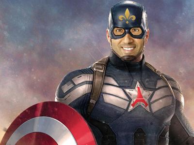 Sticker other nasser al khelaifi captain america paris psg