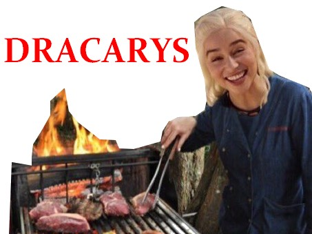 Sticker other dany daenerys targaryen barbecue bbq