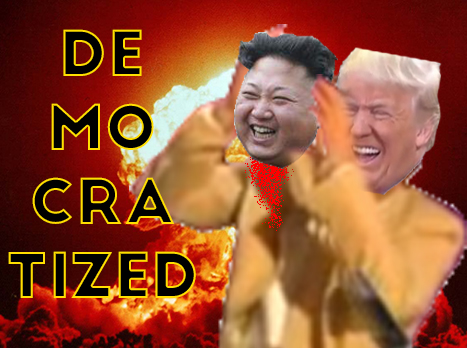 Sticker risitas trump kim atome ww3