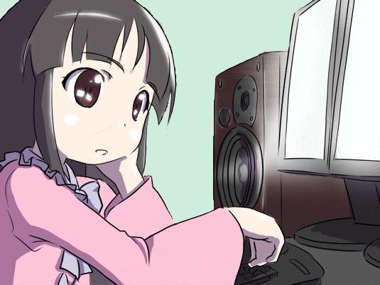 Sticker kikoojap kaguya touhou anime