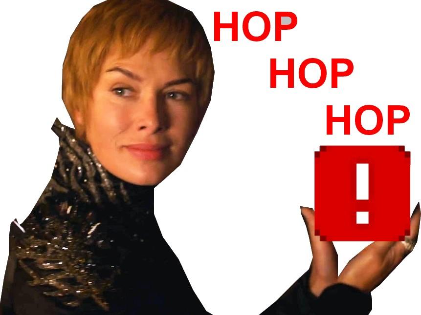 Sticker other cersei ddb hop hop hop lannister got