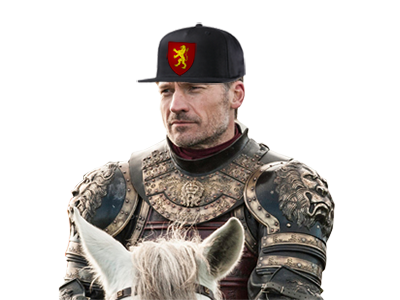 Sticker jvc game of throne casquette wesh lannister jaime cheval chevalier
