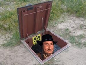 Sticker risitas jesus juif moshe shlomo bunker yaurarien yorarien atome nucleaire prions atomique bombe