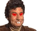 Sticker risitas issou rire tete jesus quintero lapin dents rouge yeux sourit rigole content