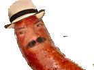 Sticker risitas bouffe saucisse chapeau hamburgeur pizza cimer chef jesus regard faim la dalle atome heureux alerte
