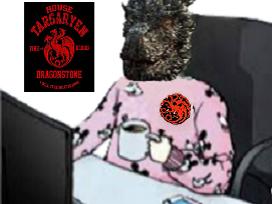 Sticker risitas drogon rsa got cafe pyjama