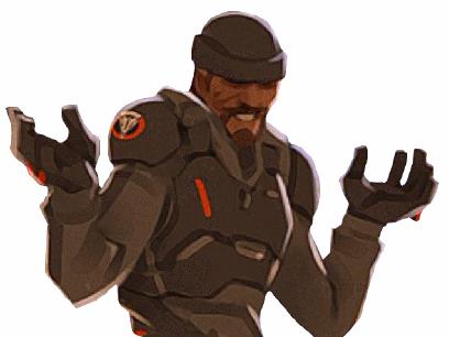 Sticker risitas overwatch reaper shrug 2
