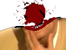 Sticker risitas jesus explose tir tete sang meurtre
