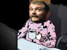 Sticker euron risitas cafe pyjama got game of thrones