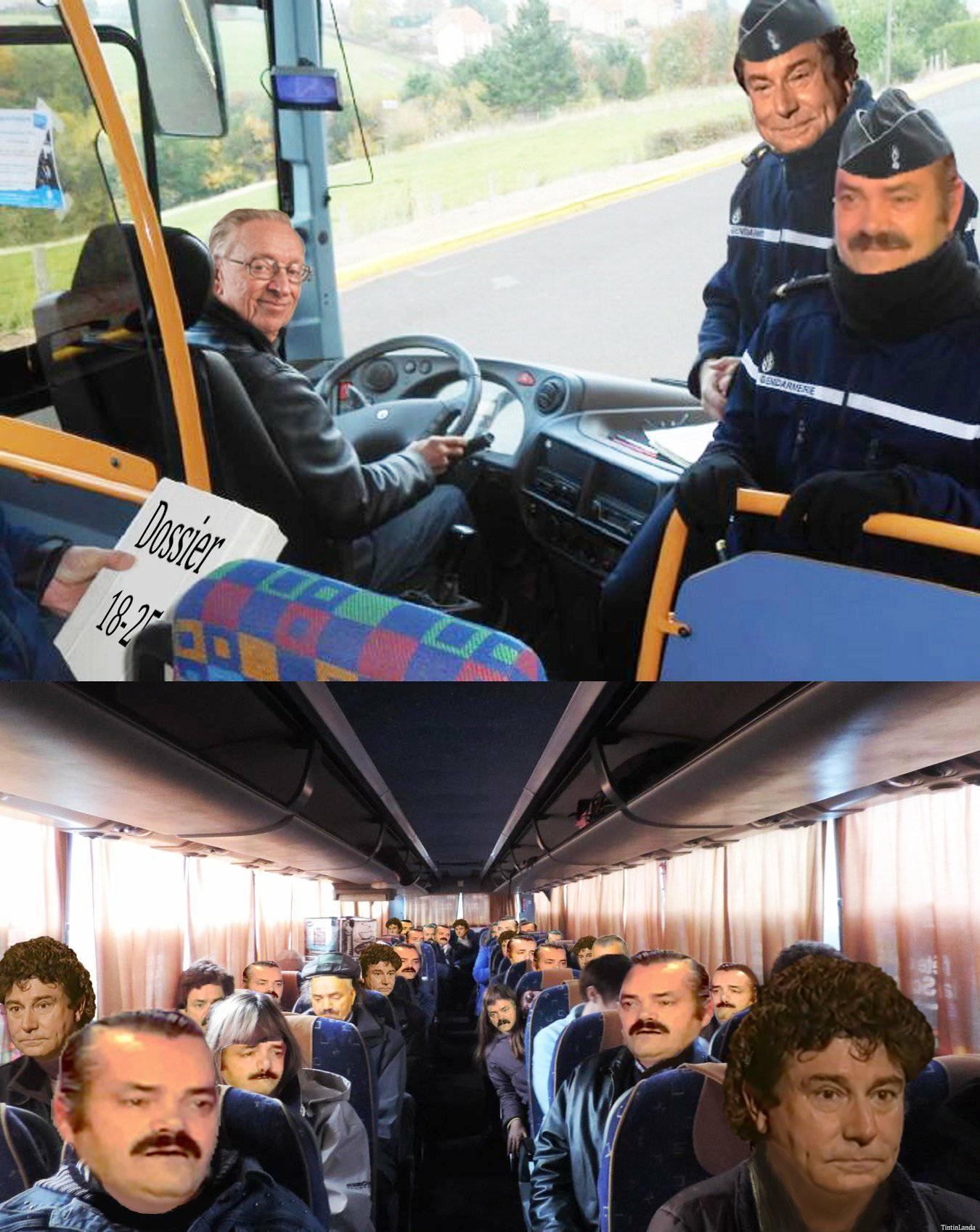 Sticker gilbert risitas bus carabistouilles irl lesquen henry la chance