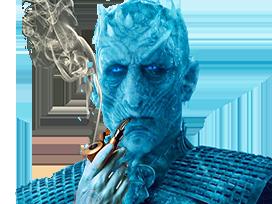 Sticker other night king roi de la nuit drink funny smoke fume