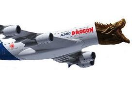 Sticker drogon avion go dragon