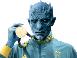 Sticker other game of thrones night king javelot lancer olympique medaille