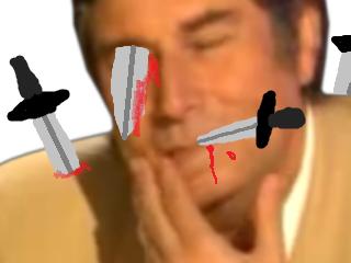 Sticker risitas jesus larde coups de couteaux poignards dagues assassine exces anti spam