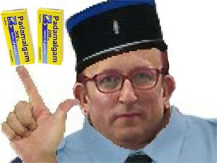 Sticker risitas policier gilbert 2 sucres padamalgam cuck gauchiste gauchiasse insoumis islam attentat