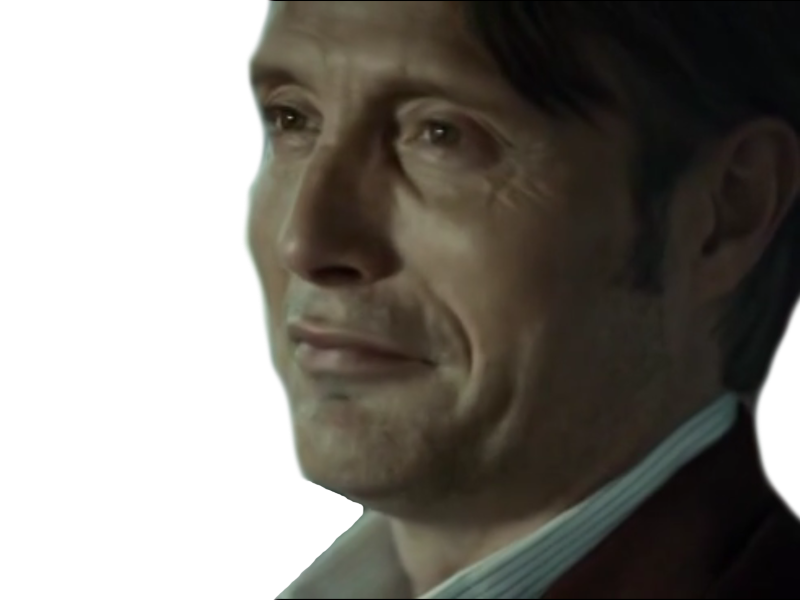 Sticker other hannibal sourit sourire rigole costume dr lecter
