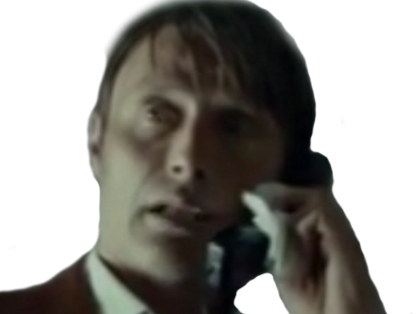 Sticker risitas hannibal telephone dr lecter appel