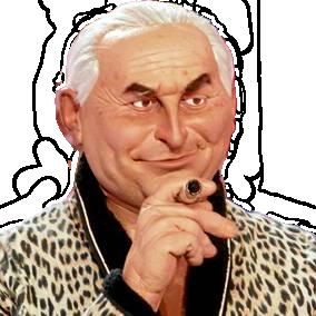 Sticker politic dominique strauss kahn dsk guignols de info sexe peignoir pyjama leopard cigare douche