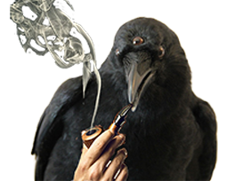 Sticker other corbeau fume smoke crow got