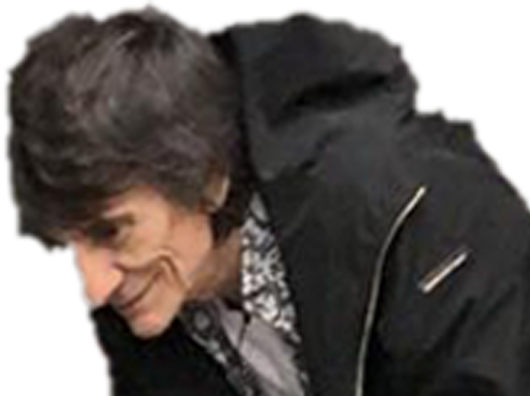 Sticker other ronnie wood guitare the rolling stones tete chelou pedo