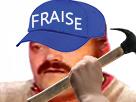 Sticker risitas fraise marteau casquette