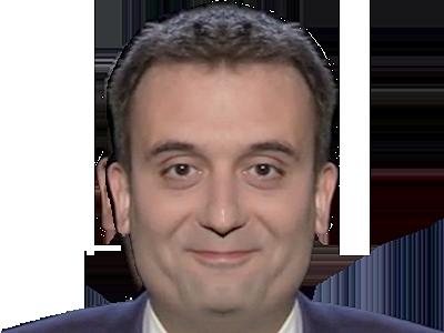 Sticker politic florian philippot fn miroir inverse front national politique