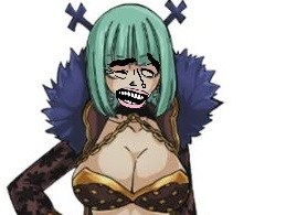 Sticker brandish yaoming fairy tail girl fille nana pire que pudding de one piece traitresse espionne vendue salope meme