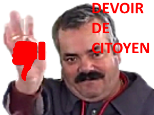 Sticker risitas issou devoir de citoyen kirby 54 kirby 54 kirby54 pouce rouge haterz brocante game