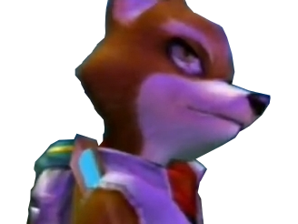 Sticker other starfox mc cloud adventures gamecube gc perplexe question dubitatif penser reflechir doute mefiance renard furry tinnova
