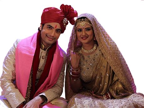 Sticker politic couple indien royal