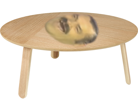 Sticker risitas table rire