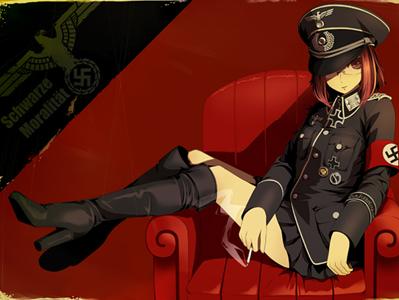 Sticker nazi kikoojap fille