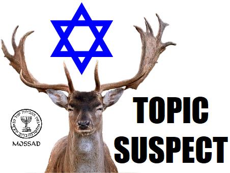 Sticker risitas cerf suspect juif mossad topic