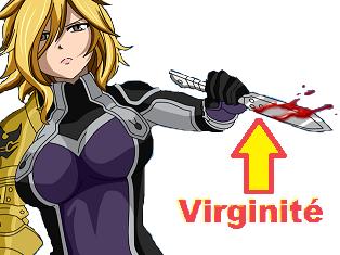Sticker virginite dimaria couteau poignard dague viol fairy tail premier sang saignement hentai porno meuf femme wendy