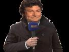 Sticker risitas jesus journaliste trench manteau micro bfm tv