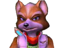 Sticker other starfox mc cloud adventures gamecube gc sans pitie merciless mepris degout mefiant perplexe penser renard furry tinnova