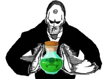 Sticker other poison toxique mortel cyanure fiole flacon vert verdatre assassinat jacob fairy tail