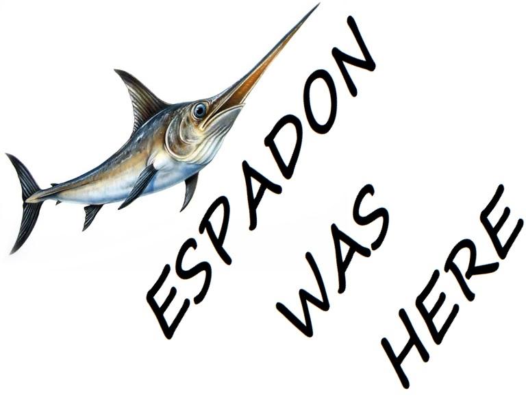 Sticker risitas espadon poisson was here guerre