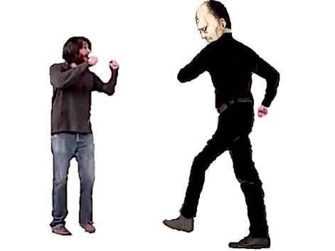 Sticker jacob conversano soral vs versus tu me respectes pas le droit facho marre de christavalier fairy tail debat baston bagarre