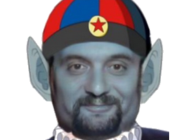 Sticker politic florian philippot dbz dragon ball barbe pilaf fn front national faceapp les patriotes