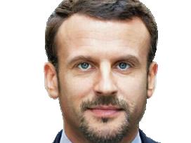 Sticker politic emmanuel macron en marche bg barbe faceapp