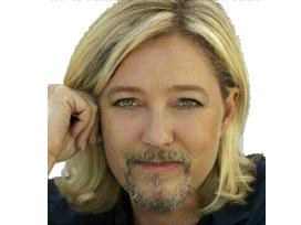 Sticker politic marine lepen barbe trans homme fn front national progres faceapp