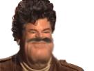 Sticker jesustas enfer deform risitas jesus moustache issou