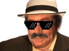 Sticker risitas inspecteur issou jesus chapeau moustache jesustas