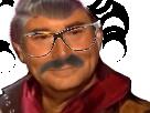 Sticker jesustas chapeau issou risitas jesus risitus lunettes moustache mix