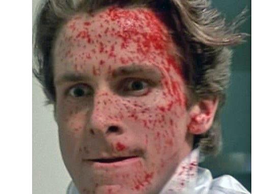 Sticker other patrick bateman christian bale american psycho
